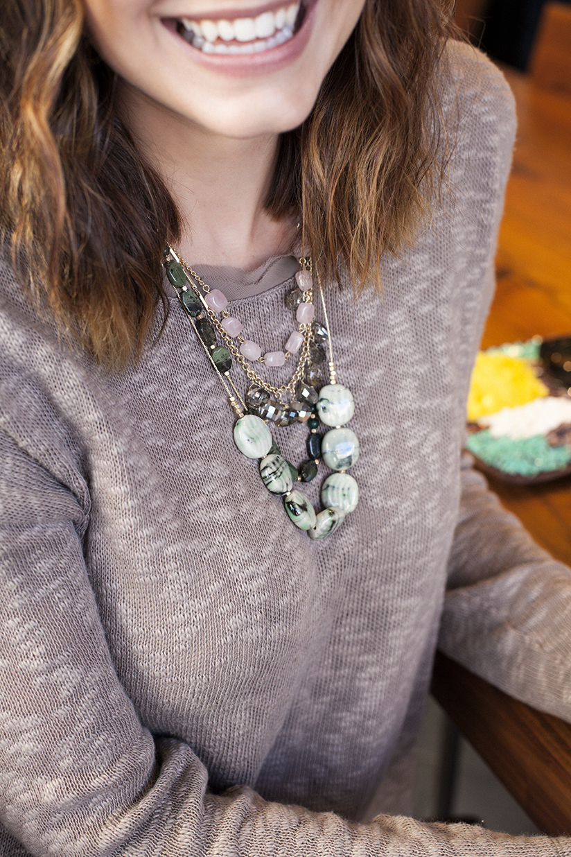 Amy West in a casual look by Anthropologie