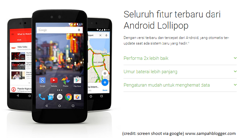 Android One Indonesia Harga dan Spesifikasi Android One Evercoss One X, Mito Impact, Nexian Journey