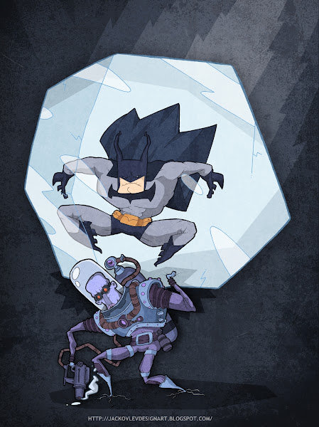 Ilustração Evgeny Yakovlev Batman & Mr. Freeze