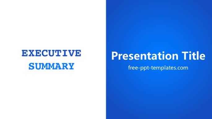 Executive Summary Template Powerpoint