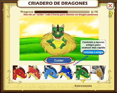 imagen de los dragones del criadero de social empires