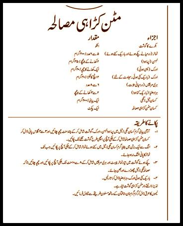 Mutton Karahi Easy Urdu Recipe
