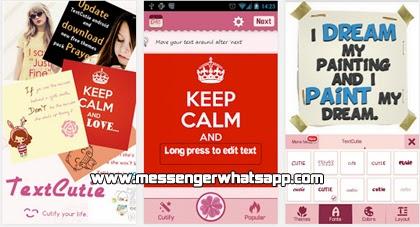 descarga TextCutie gratis para WhatsApp