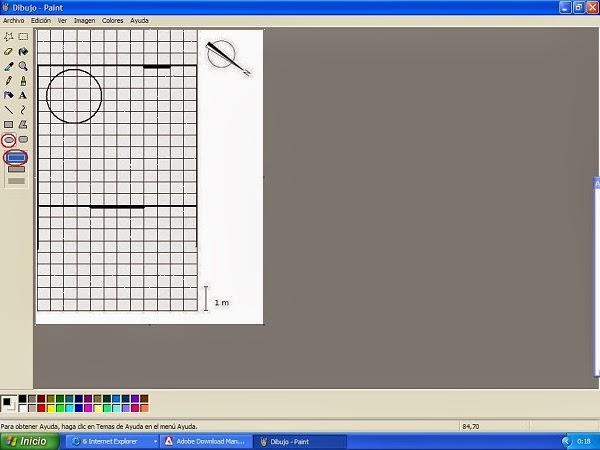 dibujar un plano con paint - guia de jardin. aprende a cuidar tu