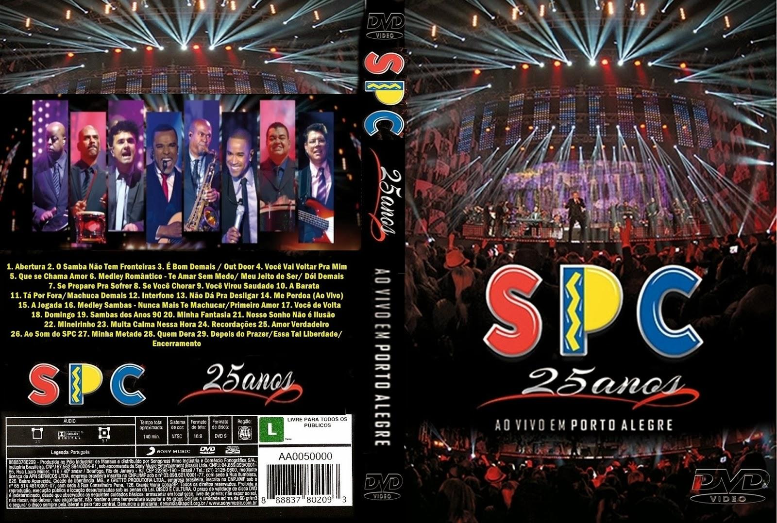 SPC 25 Anos Ao Vivo em Porto Alegre DVD-R 7182a2a09d