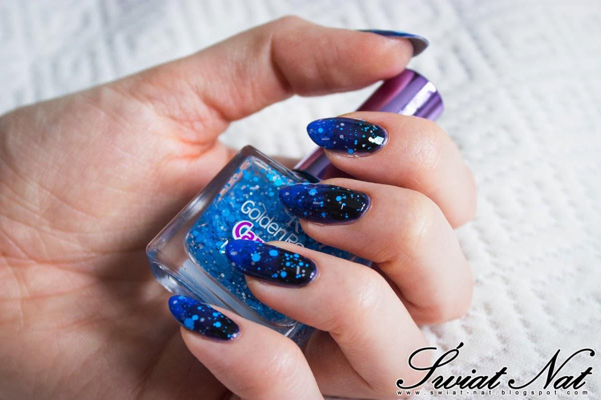 paznokcie mani manicure golder rose