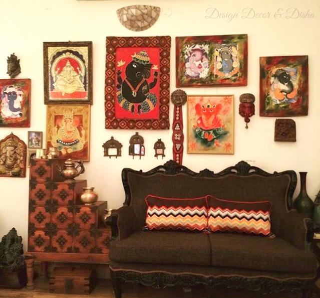 Ethnic Indian Wall Decor & Design Decor u0026 Disha | An Indian Design u0026 Decor Blog: Wall Stories ...