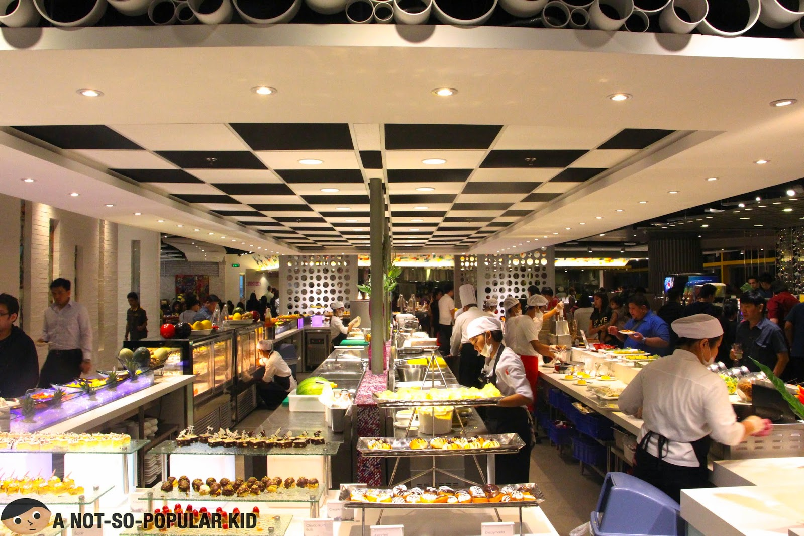 The spacious and sleek interior of Vikings in SM Megamall