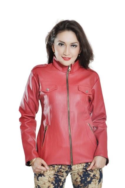 jaket kulit sintetis wanita
