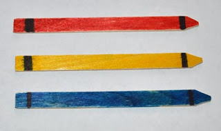 Popsicle stick 1st day of school craft for kids