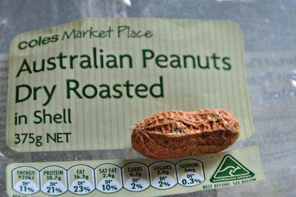 Australian roasted peanuts