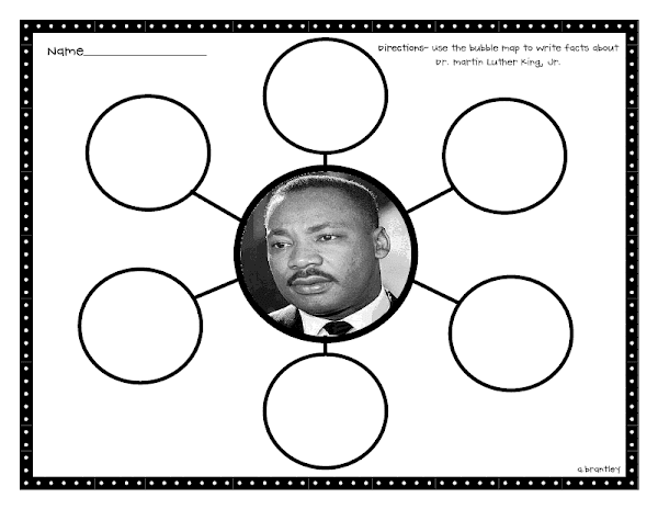 Martin Luther King Jr Bubble Map