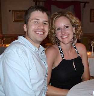 Carolyn and I at dinner during our honeymoon in St. Lucia (November, 2013).