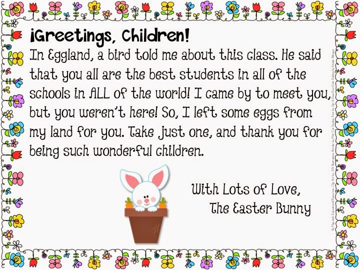 Easter Morning Letter From The Easter Bunny. Background 4. Free