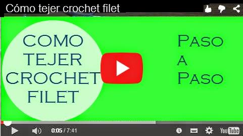 Cómo se teje crochet filet
