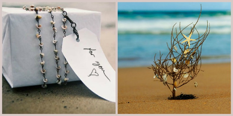 coastal holiday gift wrap