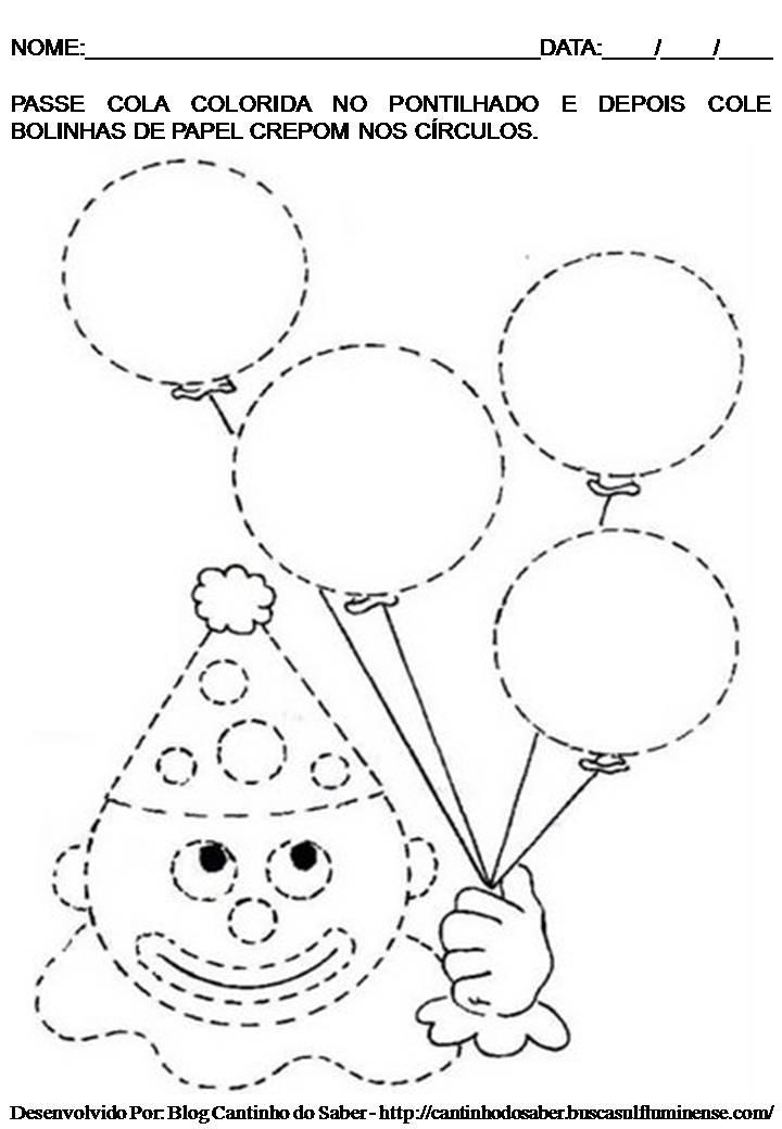 Para Imprimir Sobre O Dia Do Circo  Atividade De Arte Para O Maternal
