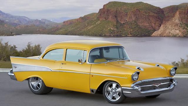 Yellow Classic Chevrolet