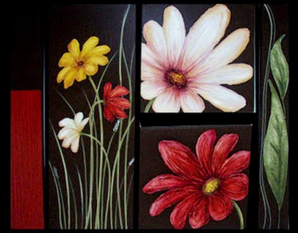 oleos-modernos-de-flores-rojas