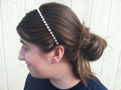 Louis Vuitton inspired rhinestone headband