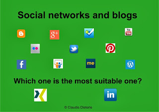 Which one is the most suitable social network or blog?