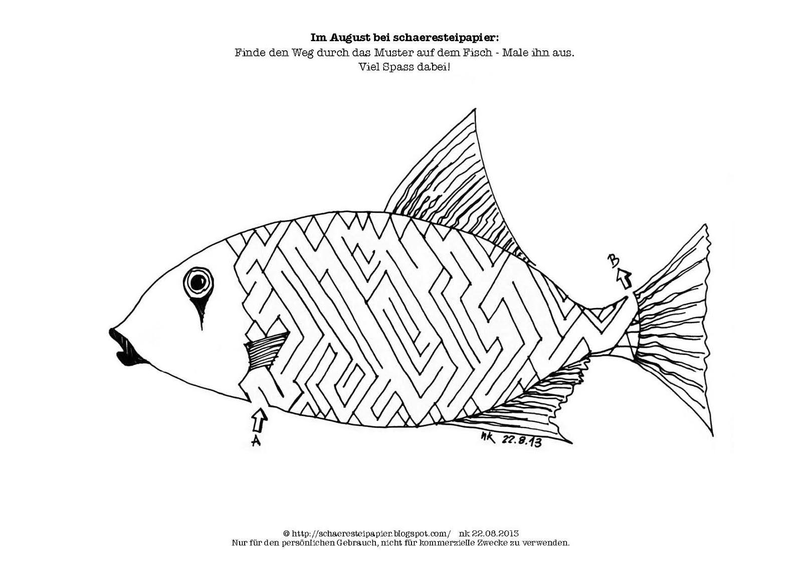 Kostenlose Ausmalbilder und Malvorlagen: Sommer zum  - Fische Zum Ausmalen Und Ausdrucken