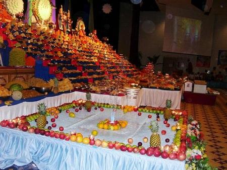 Diwali decoration ideas top 10 diwali decorative items for Annakut decoration ideas
