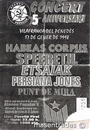 entrada de concierto de habeas corpus