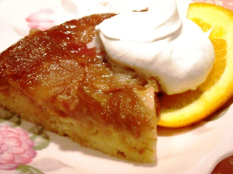 Diabetics Rejoice!: Rhubarb Upside-Down Cake
