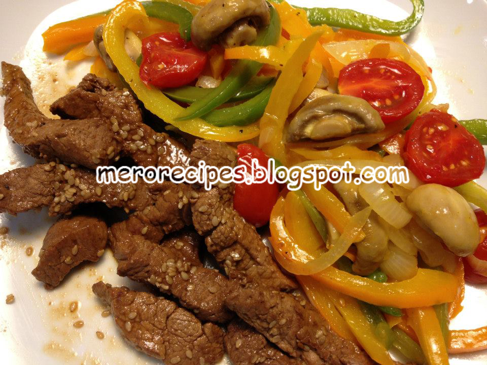 Spicy Beef With Bell Peppers Recipe — Dishmaps