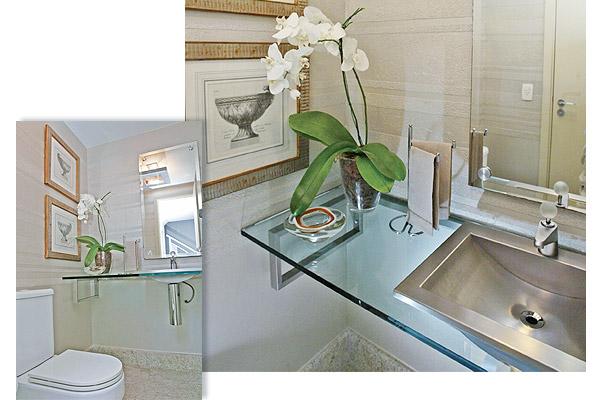 decorar lavabo antigo: de ouro fazem um sutil contraponto entre o contemporâneo e o antigo