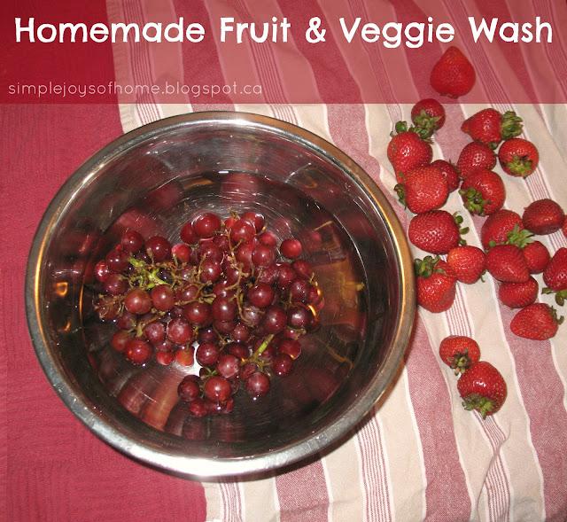Homemade Fruit & Veggie Wash