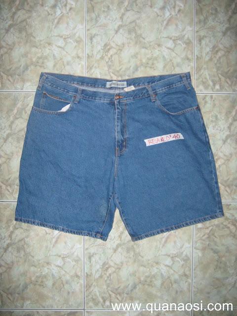 Quần short jean big size hiệu RELAXED 150k