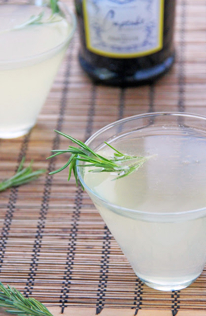 lemon vodka rosemary presecco cocktail