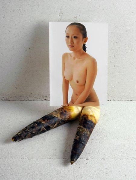 heidi voet frutas e vegetais mulheres chinesas nuas