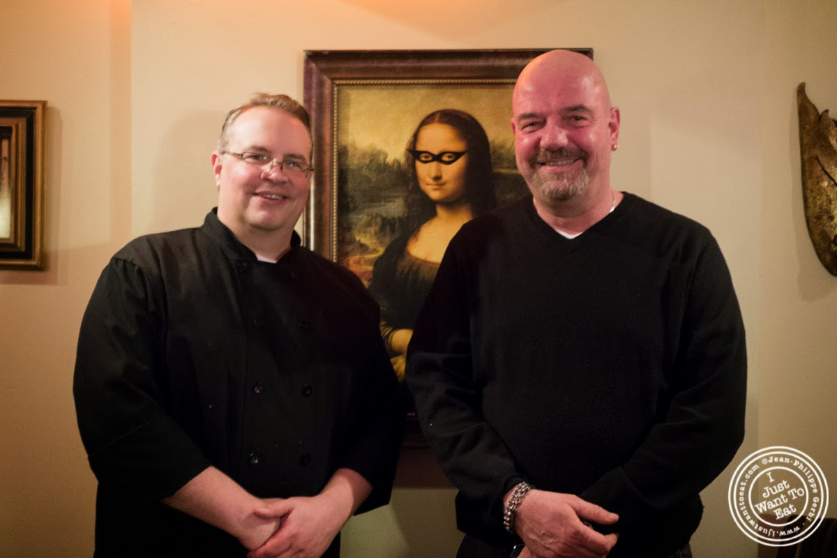 image of Executive Chef Marc Getzelman and owner George Chapastrian at MASQ New Orleans inspired cuisine in NYC, New York