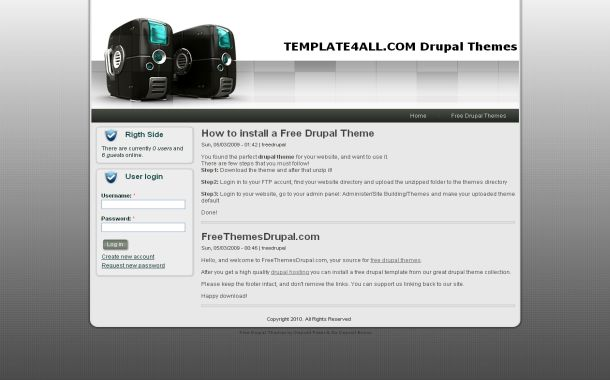 Free Web Hosting Blue Drupal Theme Template
