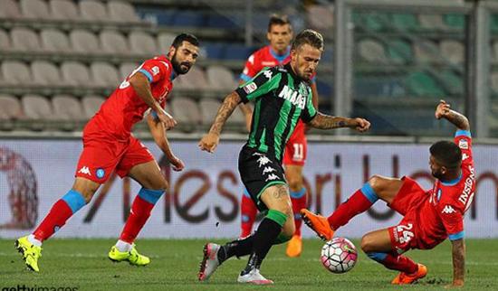 Sassuolo 2 x 1 Napoli - Campeonato Italiano(Calcio) 2015/16