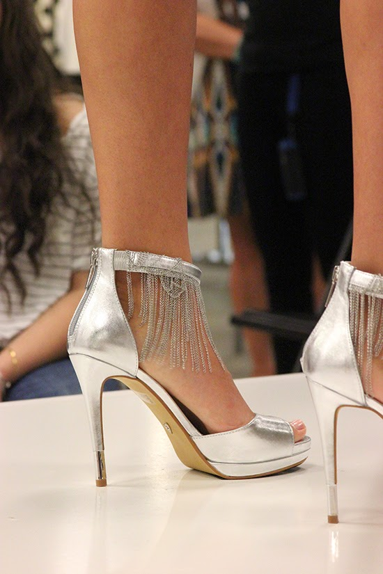 Chain Fringe Silver Heels Prom 2015