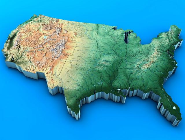 USA 3D Maps