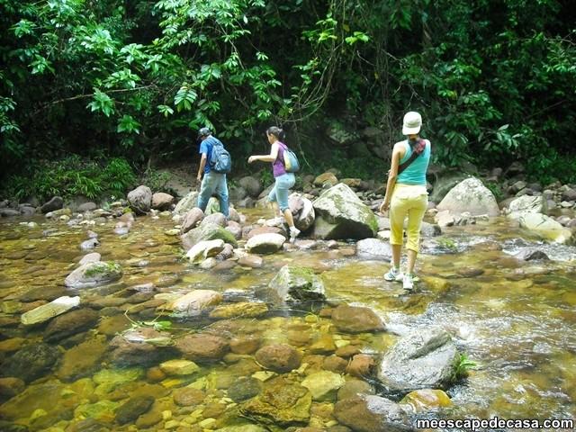 Cruce del río Shilcayo, Cordillera Escalera - Perú (Checa, Gina y Paquita)