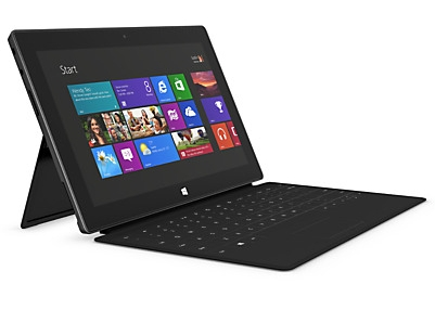 Microsoft's Surface RT tablet features a 10.6 inch, 1366 x 768 pixel ...