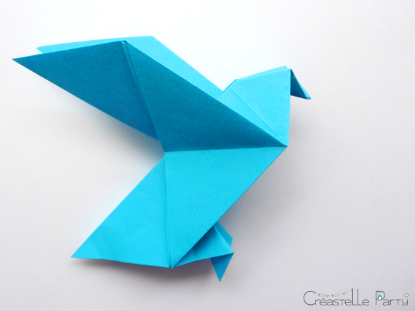 DIY colombe origami dove