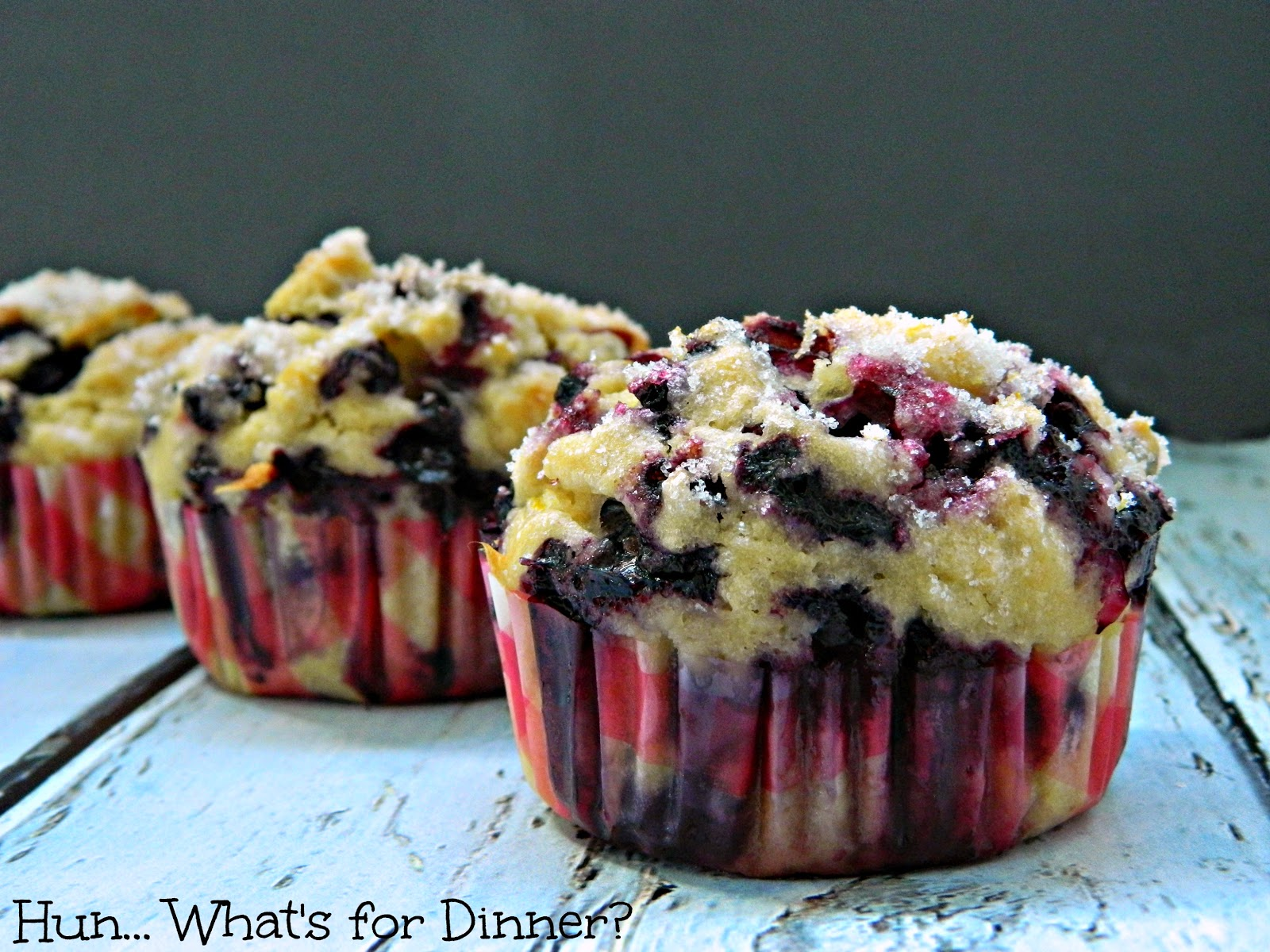 Hun... What's for Dinner? Blueberry Muffins