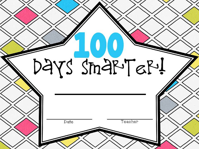 It is a picture of Canny 100 Days Smarter Printable