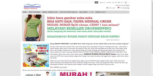Sablon Kaos, polisi online