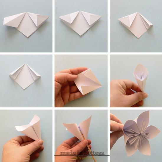 Fiori di carta me creativeinside for Fiori di cartoncino