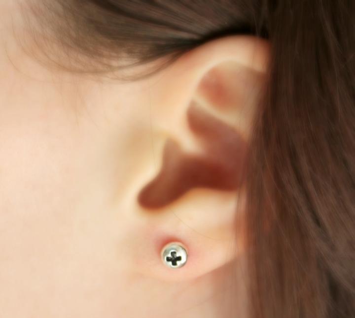 ShopLately Veritas Missing Piece Earrings Silver