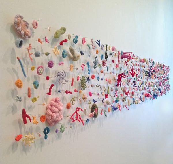 crochet art, crocheted coral by Helle Jorgensen