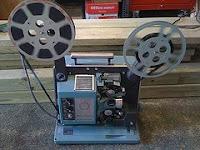 afbeelding van een oude filmprojector